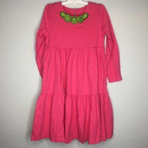 Hanna Andersson, girl's size 120 (6/7) tier dress